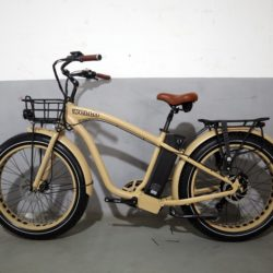 Fat bike électrique beach cruiser Wello bikes homme couleur sable